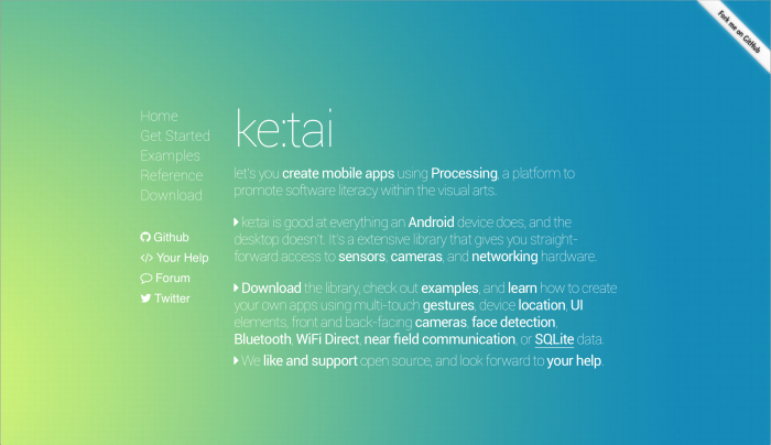 Ketai Library for Processing Android «